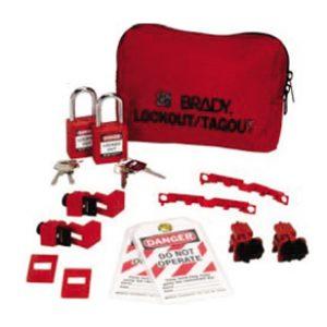 Brady-Kit-Bolsa-Portátil-para-Bloqueio-Disjuntores-120/227V-com-Cadeados-de-Plástico-JAV